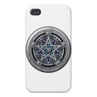 Pentáculo pagano de plata femenino iPhone 4/4S funda