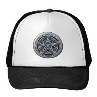 Pentáculo pagano de plata femenino gorras de camionero