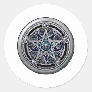 Pentáculo pagano de plata femenino pegatina
