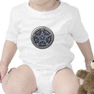 Pentáculo pagano de plata femenino camisetas