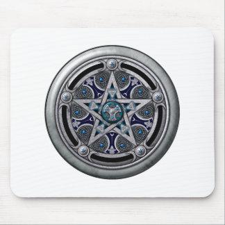 Pentáculo pagano de plata femenino alfombrilla de raton