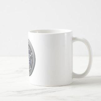 Pentáculo pagano de plata femenino taza de café