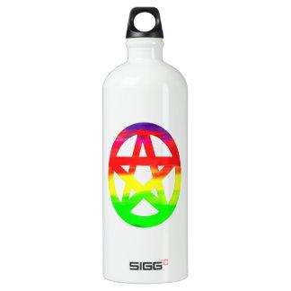 Pentáculo pagano psicodélico del hippy