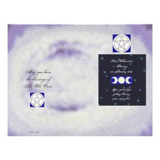 Pentáculo pagano Wiccaning/Saining de la luna trip Tarjetas Publicitarias