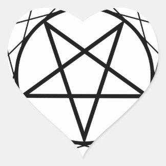 Pentáculo Pegatina En Forma De Corazón