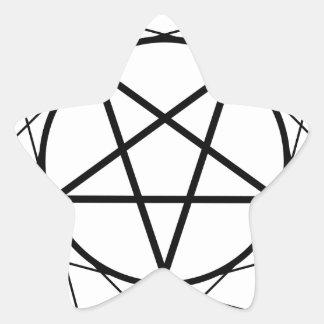 Pentáculo Pegatina En Forma De Estrella