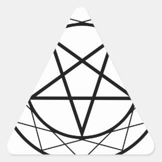Pentáculo Pegatina Triangular