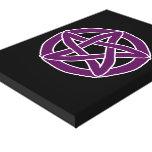 Pentáculo púrpura de la diversión impresión en lona