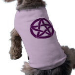 Pentáculo púrpura de la diversión ropa perro