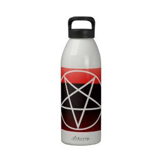 Pentáculo rojo botella de beber