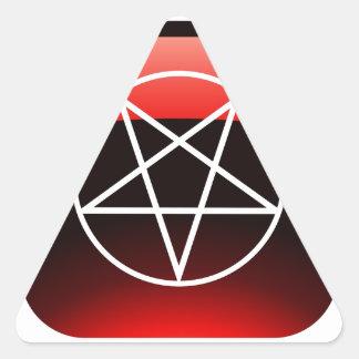 Pentáculo rojo calcomanía triangulo