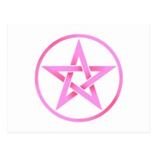 Pentáculo rosado del Pentagram Postales