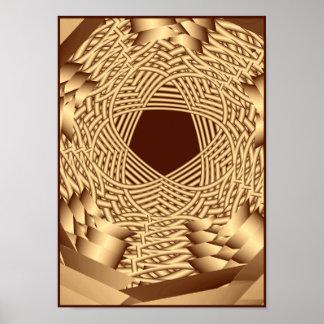 pentáculo tejido mimbre póster