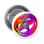 pentáculo tridimensional #4 del arco iris pin