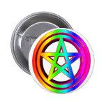 pentáculo tridimensional #5 del arco iris pins