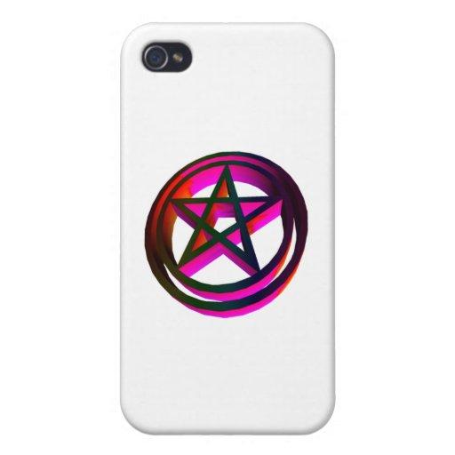 pentáculo tridimensional iPhone 4 carcasas