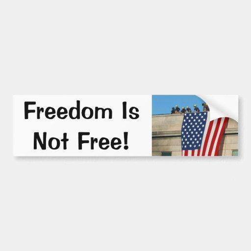 Pentagon 9/11 Flag Bumper Sticker