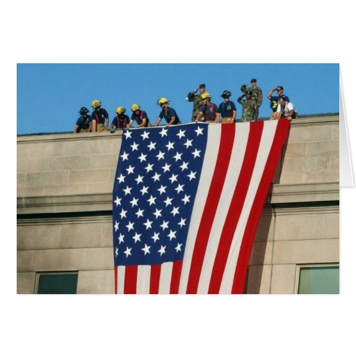 Pentagon 9/11 Flag Greeting Card