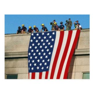 Pentagon 9/11 Flag Postcard