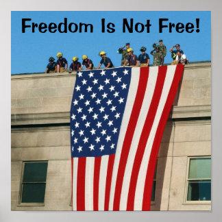Pentagon 9 11 Flag Poster