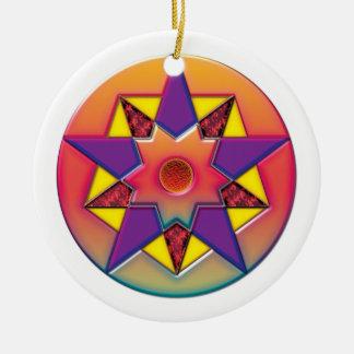 Pentagon Crop Circle Ceramic Ornament