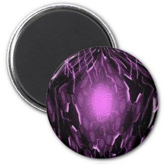 Pentagon Energy Lightning 2 Inch Round Magnet