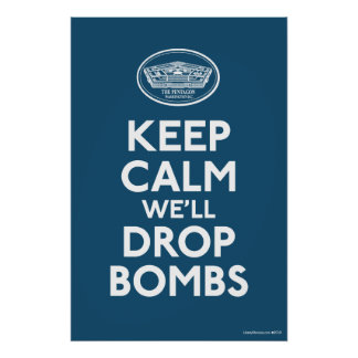 Pentagon Keep Calm Anti War Poster