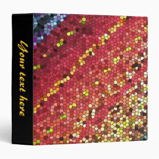 Pentagon Mosaic 3 Ring Binder