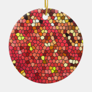 Pentagon Mosaic Ceramic Ornament