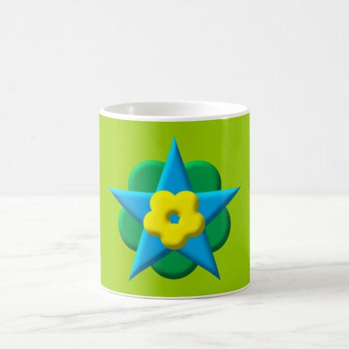 Pentagon pentagon flower pentacle more flower coffee mug
