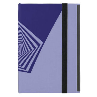 Pentagon Spiral Blues iPad Mini Cover