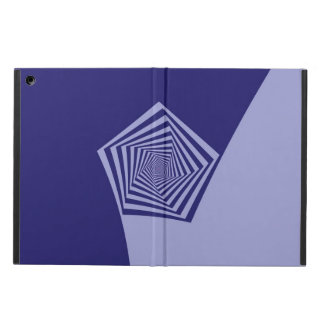 Pentagon Spiral Blues  Powis iCase for iPad iPad Air Cover