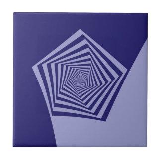 Pentagon Spiral Blues tile