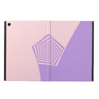 Pentagon Spiral in Pale Pink and Lavender for iPad iPad Air Cover