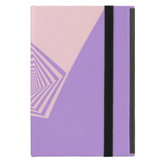 Pentagon Spiral in Pale Pink and Lavender iPad Mini Cover