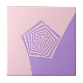 Pentagon Spiral in Pale Pink and Lavender tile
