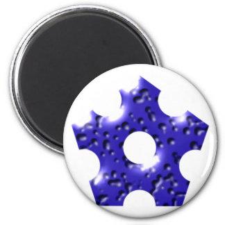 Pentagon star Pentagon star 2 Inch Round Magnet