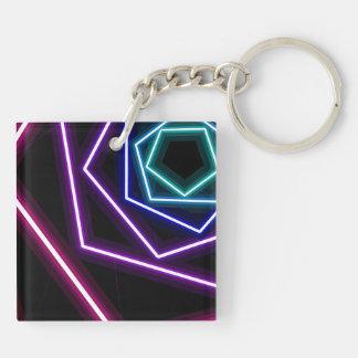 pentagonal glitch keychain