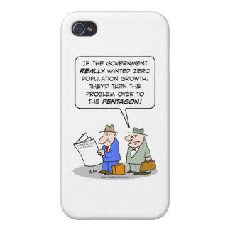 pentágono cero del crecimiento demográfico iPhone 4 cárcasa