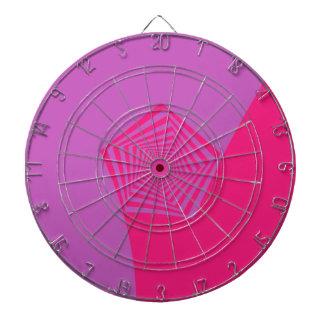 Pentágono espiral en rosa entona el Dartboard Tablero De Dardos