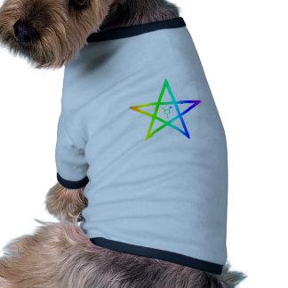 Pentagram #2 del arco iris del transexual de Nonbi Ropa Para Mascota