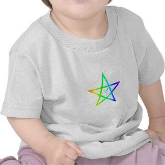 Pentagram #2 del arco iris del transexual de camiseta