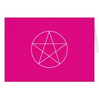 """pentagram."" 5.6x4 - Pink Card"
