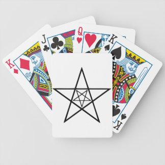 pentagram 5 baraja cartas de poker