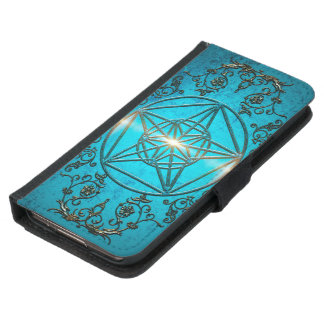 Pentagram, a mystic and magical symbol. samsung galaxy s5 wallet case