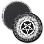 Pentagram adornado imán de frigorífico