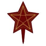 Pentagram afiligranado grabado en relieve oro - figuras de tarta