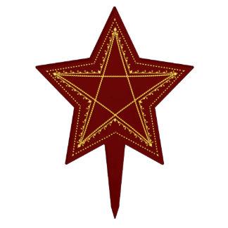 Pentagram afiligranado grabado en relieve oro - figura de tarta