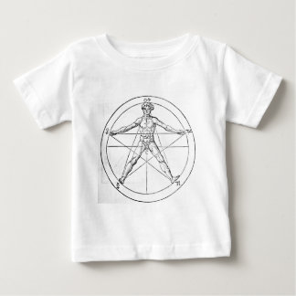 Pentagram_and_human_body_(Agrippa) Baby T-Shirt