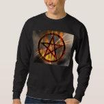 Pentagram ardiente pulóvers sudaderas